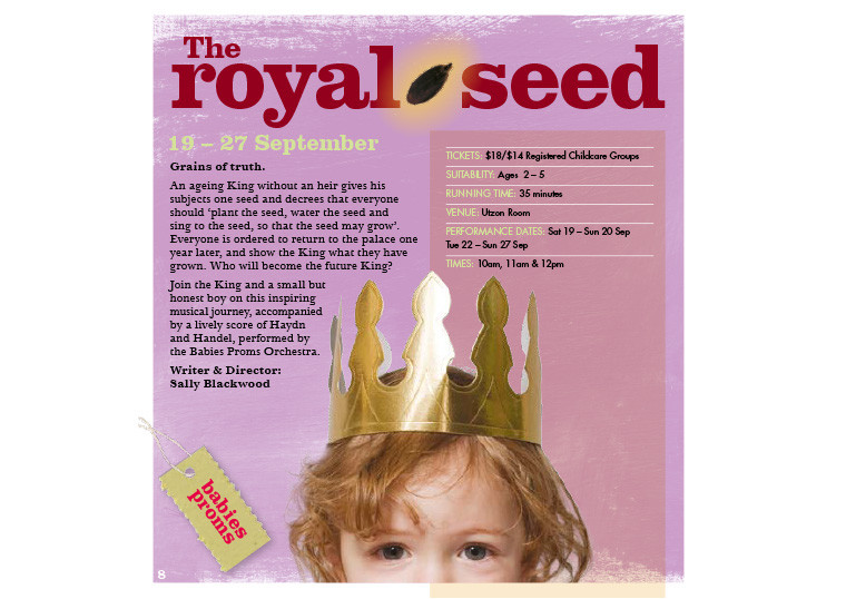 THE ROYAL SEED, Sydney Opera House ©Kids At The House