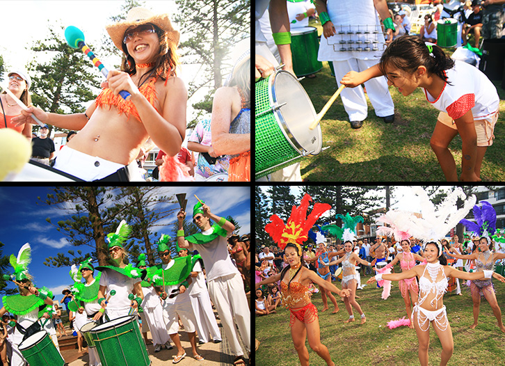 SAMBA ON THE SAND, MUSIC IN MARCH ©Chi Wa Tse, Samba Ninjas