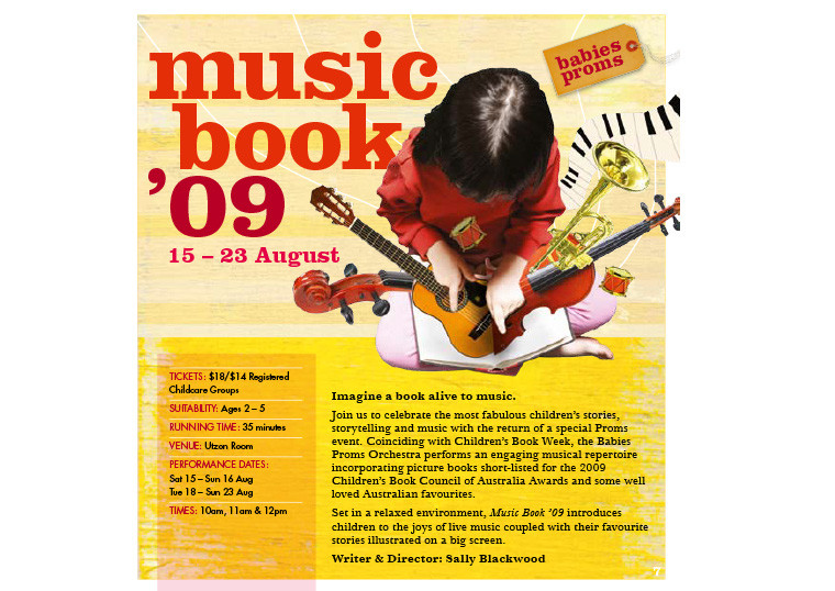 MUSIC BOOK, Sydney Opera House ©Kids At The House
